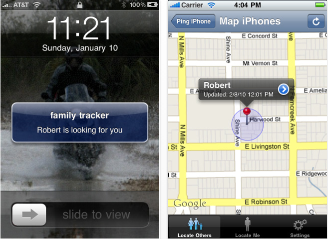 Family Tracker iOS4 App: Big Brother For Big Brothers