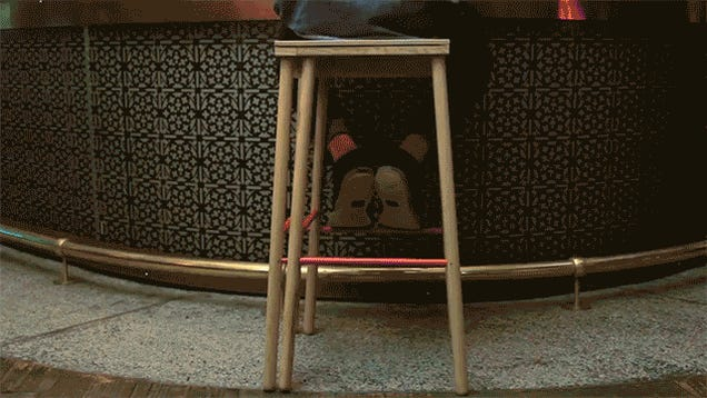 A Sliding Stool That Expands To Accommodate an Extra Person