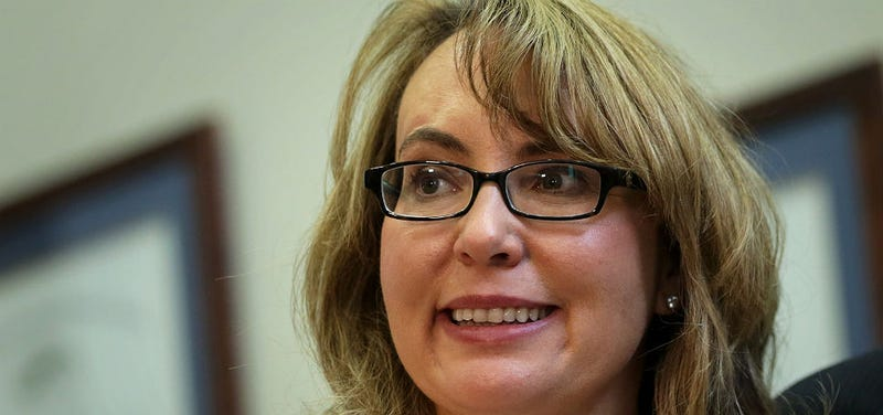 Gabby Giffords Throws Opening Pitch, Also Throws Shade at 50 Cent