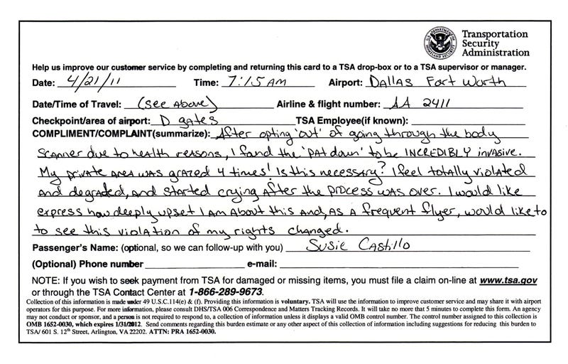 "Former Miss USA ""sexually molested"" by TSA"