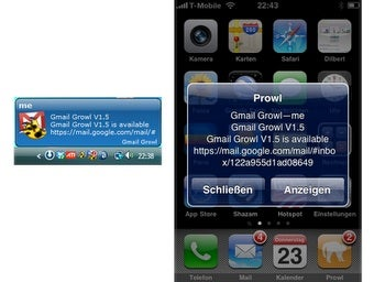 Gmail Growl 1.5 Improves Push Notifications for iPhone with Prowl