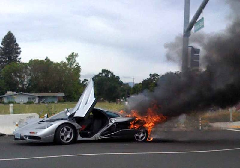 $2 Million McLaren F1 Self-Immolates In Sickening Conflagration