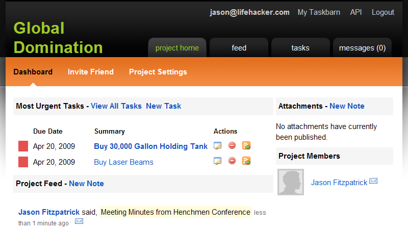 Use Taskbarn to Track and Manage Projects Online