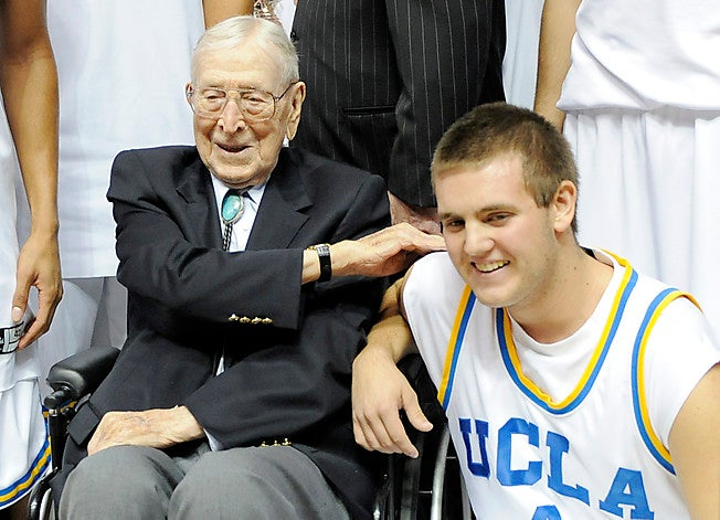 John Wooden's Benchwarming Great Grandson Hits The Last Basket At UCLA's Pauley Pavilion