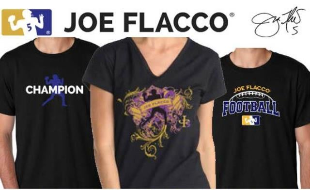 Joe Flacco's Official Shirts Are Just As Boring As You'd Expect