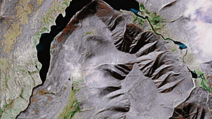 An algorithm that finds face-like structures on the Earth's surface