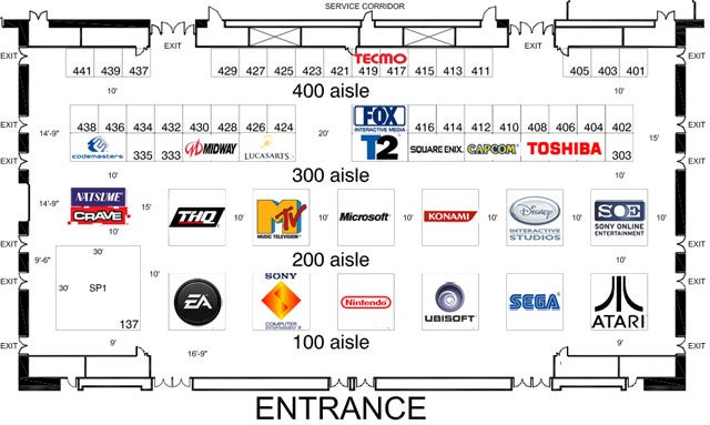 E3 Floorplan, Exhibitor List Revealed