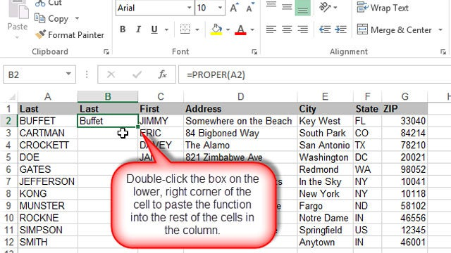 Paste Formulas or Values into an Excel Column with a Double-Click