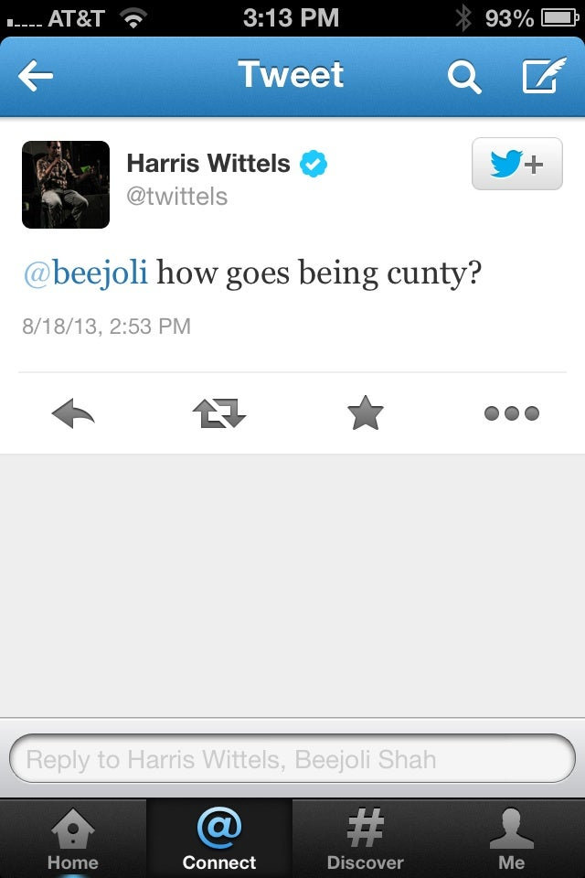 It's Because You're A Cunt, Harris