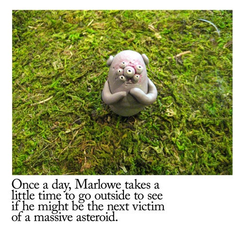 """Marlowe the Monster"" is a sculpted webcomic of melancholy moments"
