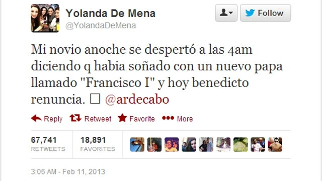 Some Spanish Wizard Predicted the New Pope's Name a Few Hours Before the Previous Pope Resigned