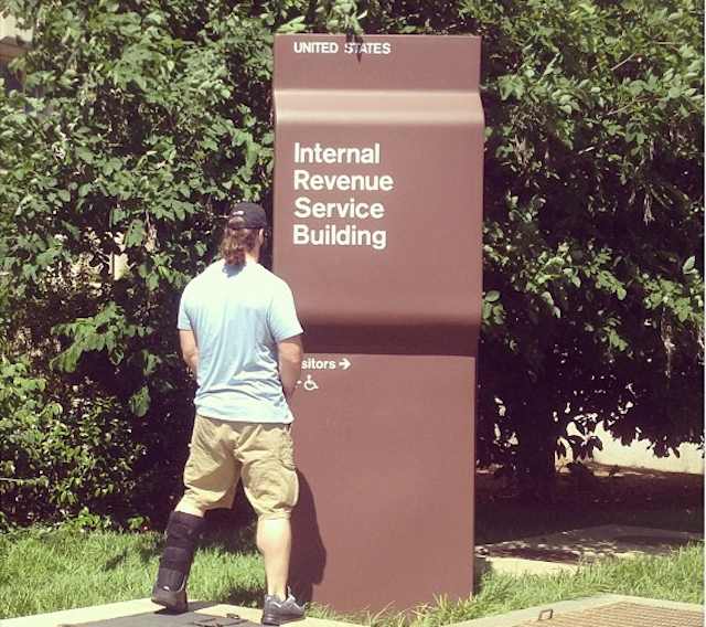 NFL Player Pisses On IRS Sign, IRS Chief Forced To Resign Hours Later