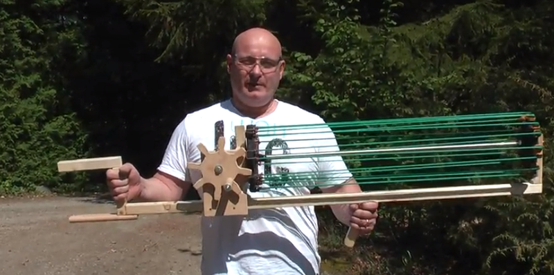 The Gatling Slingshot Crossbow: You'll Shoot Your Everybody's Eyes Out