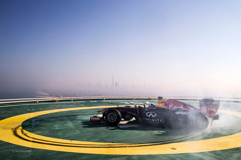 Fuck you FIA, we'll do doughnuts on a helipad, your fines are irrelevant