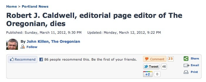 Portland Oregonian Sends Off Dead Editor By Revealing His Infidelity