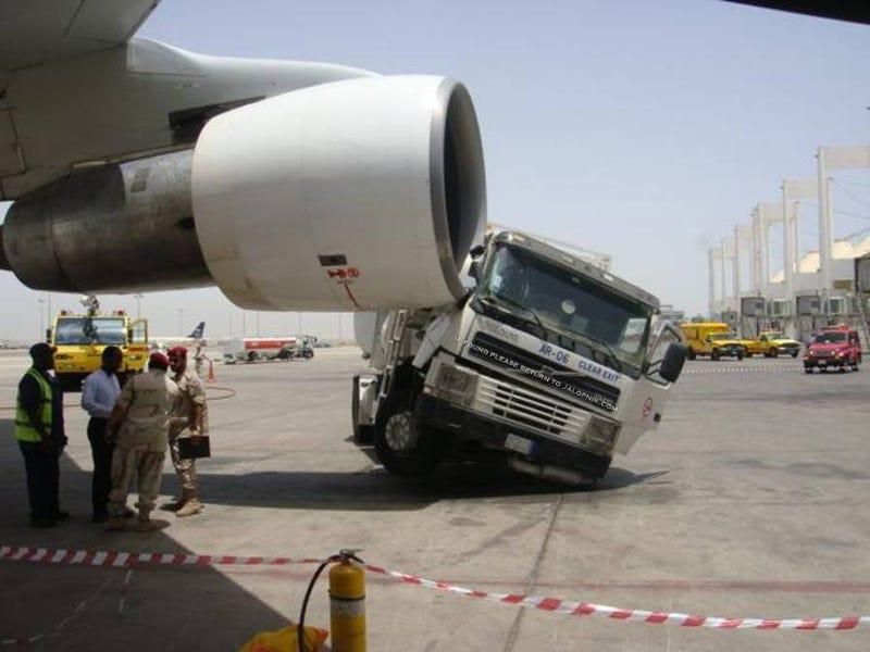 Iranian passenger jet crashes into refueling truck
