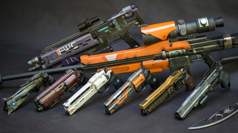 An Incredible Collection Of Replica Destiny Weapons