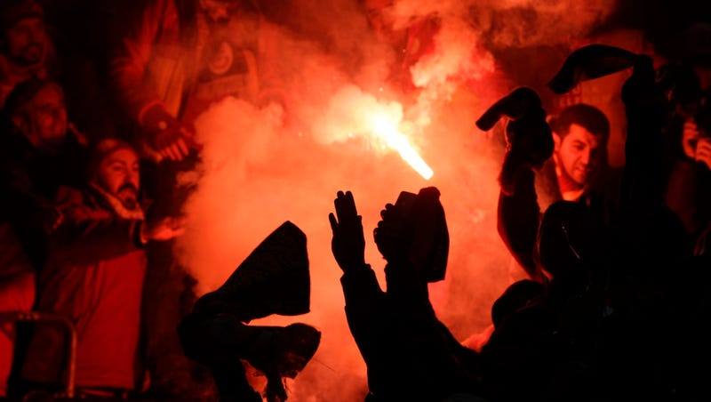 With No Tickets, Turkish Soccer Fans Try Burrowing Into Stadium