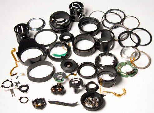 Canon Lens Completely Disassembled (Result: A Lot of Rings)