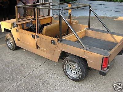 """Happy Jack"" Wooden Hummer Replica A Questionable Off-Roader"