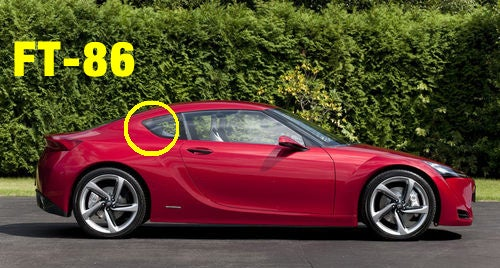 Toyota FT-86: Toyota's Design Evolves In Profile
