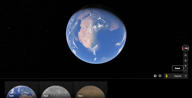 Here's How to Explore the Moon and Mars in Google Maps