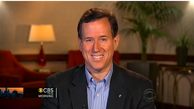 Rick Santorum Distances Self From Hilarious 'Gals Should Keep Their Legs Closed' Jokester