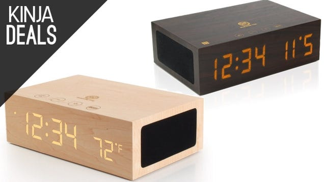 Class Up Your Nightstand With These Wooden Bluetooth Alarm Clocks