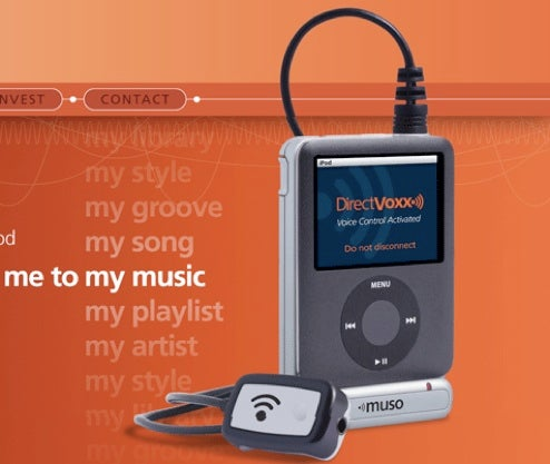 Direct Voxx Muso is Natural-Speech Voice Recognition Dongle for iPod nano