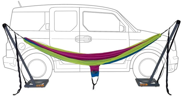 Can't Find Two Trees to String Up Your Hammock? Just Use Your Car
