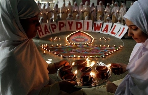 Students Share A Light On Diwali