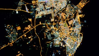 Damman, Saudi Arabia as seen from the International Space Station. This photo of a glittering, opalescent city was taken by ESA astronaut Samantha Cristoforetti, who couldn't remember where she took it. You can help identify all the photos taken from space at the Cities at Night project.