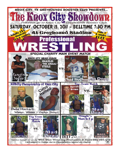 Here's Chad McGhee With Your Weekly Knox City Greyhounds Update And Bye-Week Wrestling Extravaganza