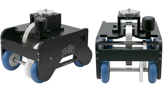 A Hefty Flywheel Makes This Dolly a Smooth Operator