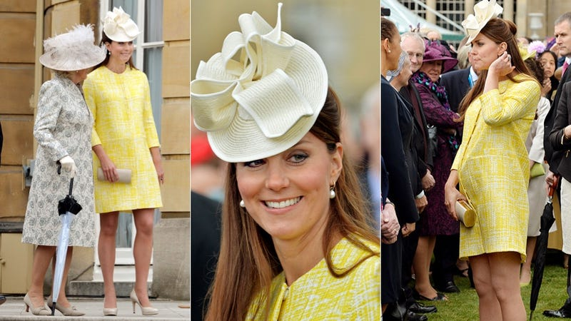 Duchess Catherine Avec Bump: Like Sunshine on a Cloudy Day