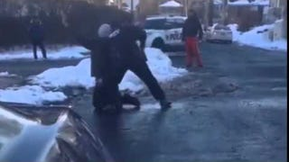 Video: Cop Pulls Gun on Teens Reportedly Having Snowball Fight