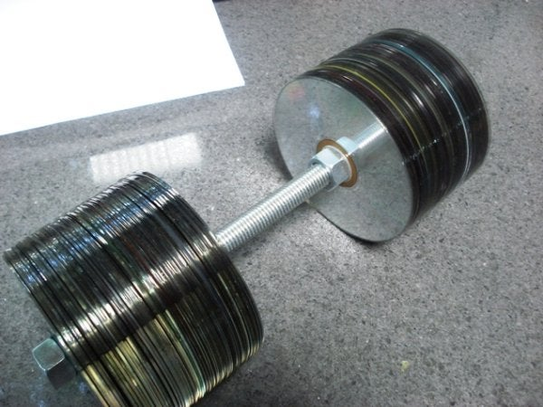 Great Idea: Store Those Old CDs in Your Biceps!