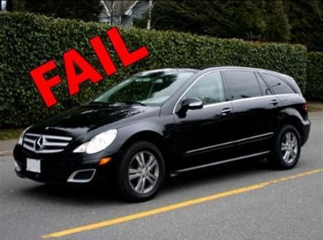 Mercedes R-Class: FAIL
