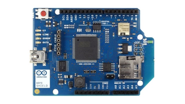 The Arduino Wi-Fi Shield Makes Taking Your DIY Projects Online Simple