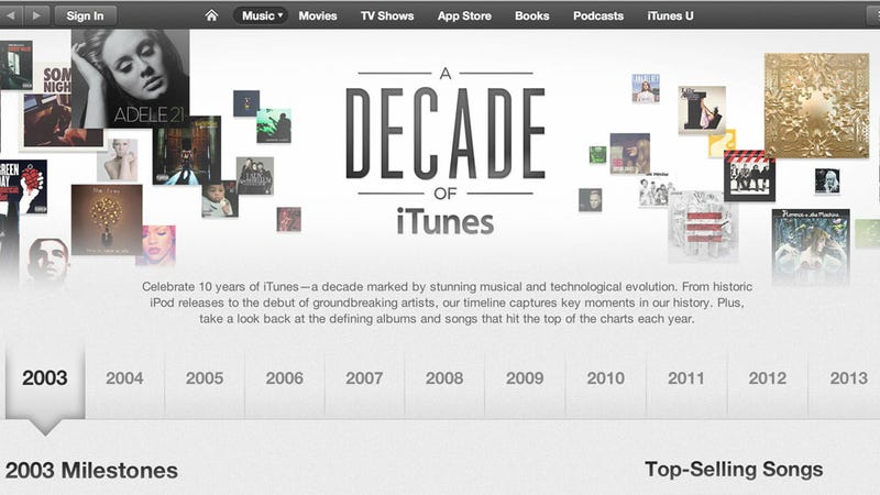 The iTunes Store Is A Decade Old Today