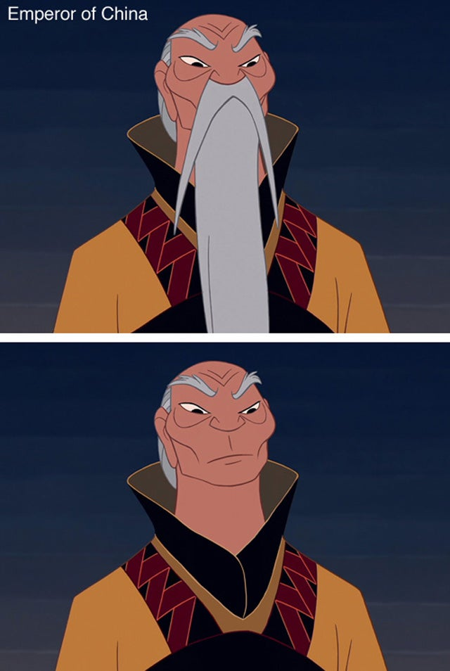 Disney Characters Without Their Beards Are Frightening