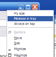 RBTray Minimizes Any App to Your System Tray