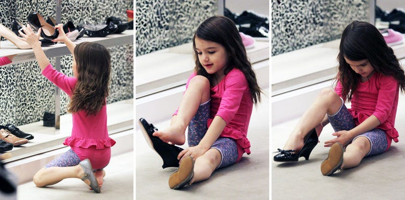 Suri Cruise Tries on High Heels: A Two-Part Miniseries