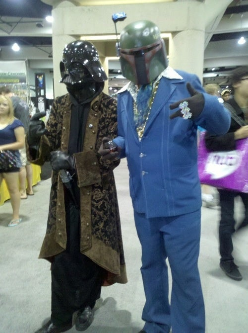 Darth Vader and Boba Fett class up the joint