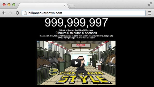 The Website Counting Down to Gangnam Style's Billionth Hit Turned to Porn Ads When It Happened