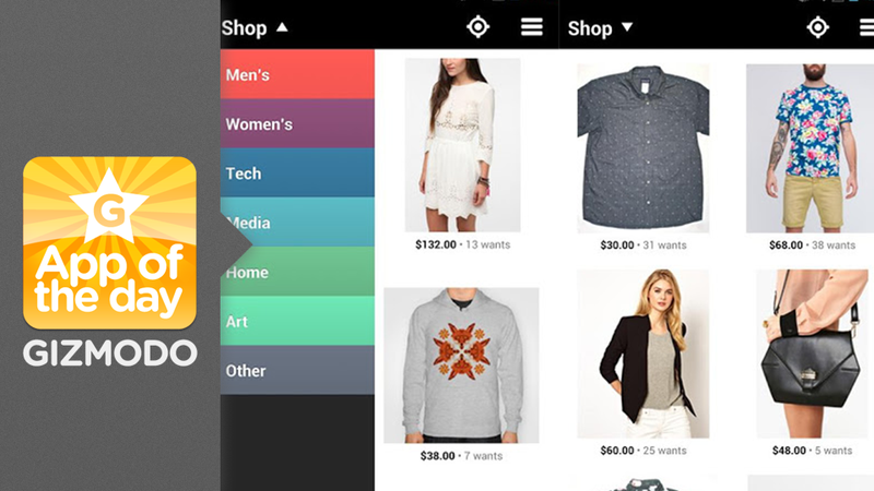 Svpply for Android: Create Collections of the Clothes You Want