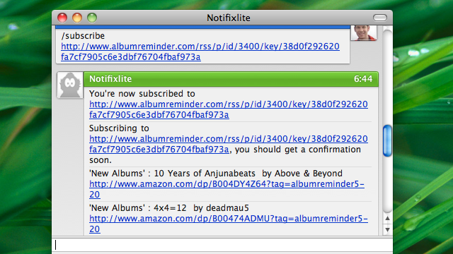 Notifixlite Notifies You of Important RSS Updates via Instant Message