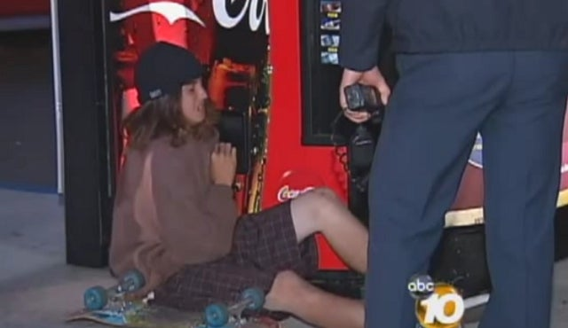 Sticky Fingered Teen Gets Arm Stuck Trying to Steal Soda Can from Vending Machine