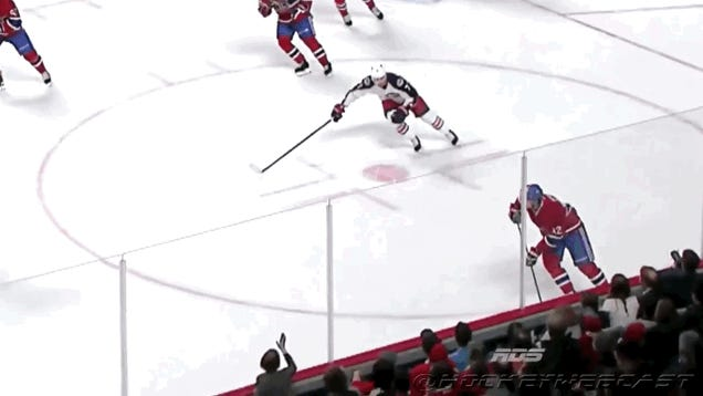 Hockey Fan Pounding On Glass Sent Flying From Check Into The Boards