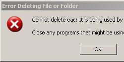 Delete a locked file in Windows